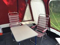 Caravan awning and breathable ground sheet
