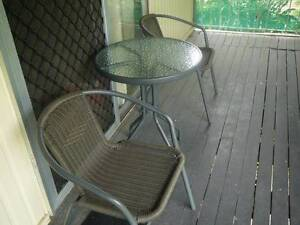 OUTDOOR TABLE AND 2 CHAIRS GREAT FOR 2 PEOPLE OR SINGLE PERSON Acacia Ridge Brisbane South West Preview
