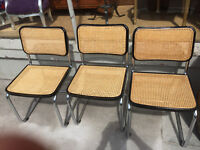 3x Chairs , with metal legs, Feel free to view £20 for the three chairs