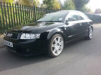 2004 Audi A4 2.5 TDi Sport Automatic Black b6 4 Door saloon Not(Bmw,mercedes,golf,seat,mini)