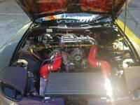 Mazda RX7 Hks t51r single turbo setup