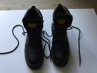 Caterpillar steel cap safety boots. UK size 8, EUR size 42. New.