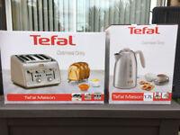 NEW Tefal Maison In Oatmeal Grey - 4 Wide Slice Toaster & 1.7 Rapid Boil Kettle