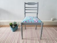 Grey Vintage upcycled Chair