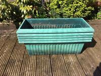 rectangle plastic plant planter