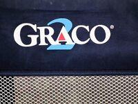 Graco Travel Cot-very good condition. Dark blue 125cm long