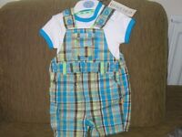 M&S Baby Dungaree Outfit 6-9 months