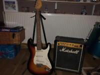 Electric guitar and Marshall Amp for sale