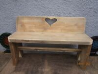 childs garden bench 32 inches wide x 22 inches high