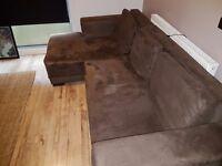 3 Seater Corner Sofa Bed with hidden storage.