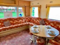 🌟🌟4 BED (SLEEPS 10) HEATED CARAVAN FOR SALE IN NORTHUMBERLAND ON 12 MONTH SEASON PET FRIENDLY🌟🌟