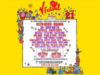 2 X V Festival Red Camp Weekend Tickets