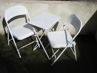 "Habitat ""Airo"" Bistro Metal Folding Table and Chairs - £15"