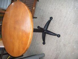 3 cast iron leg tables