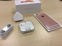 ** GRADE A ** Boxed Rose Gold Apple iPhone 6s 16GB Factory Unlocked Mobile Phone + Warranty