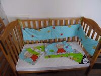 Babies R US Catalina cot with mattress. Great condition! Sturdy design, drop side adjustable