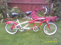 LIKE NEW TANDEM ONE OF MANY QUALITY BICYCLES FOR SALE