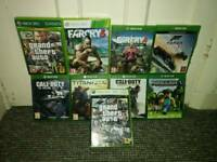 Bundle of xbox one and xbox 360 games