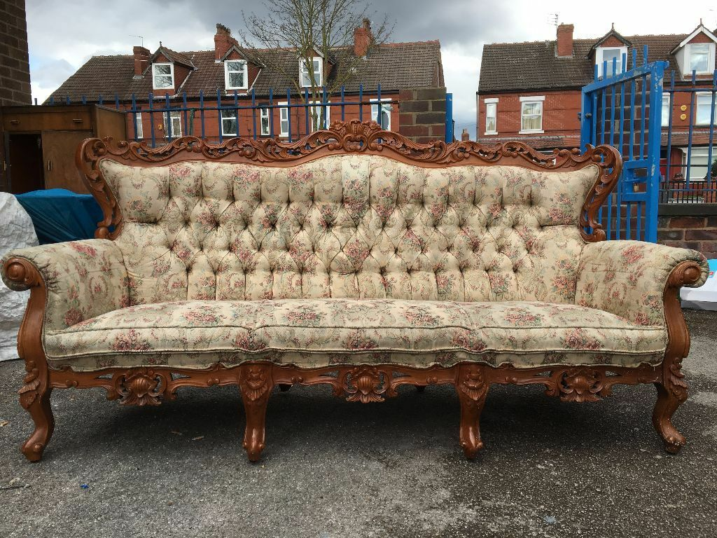 French Ornate Rococo Sofa High Back Good Condition Home Or