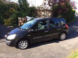 Renault Scenic Dynamique 1.4 16v, Black, 5 door, 82 500 miles, '56 plate £1250 o.n.o