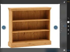 Hand waxed pine bookcase