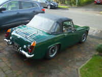 Austin Healey Sprite (mk4) 1971 Good condition throughout with full MOT. Great classic car.