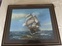 Lovely large Framed ship Picture