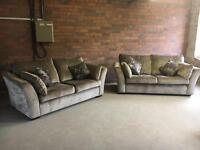John Lewis 2 2/3 seater sofas mink - can deliver