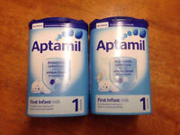 Aptamil 1 First Milk available in all stages.
