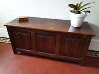 Oak coffer blanket box chest trunk coffee table for sale  Lincoln, Lincolnshire