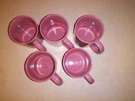 5 Ceramic Mugs