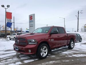 2014 Ram 1500 Sport Crew 4X4 ~Nav ~Backup Camera ~P/H/Leather