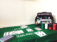 TEXAS Hold'em Poker Set - Great For New & Experienced Players