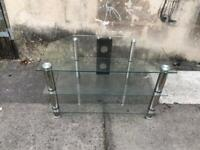 Tv glass table