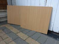 2 x Beech effect cupboard shelves - Excellent condition