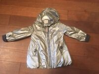 PHISTER & PHILINA Silver girls jacket age 3-4