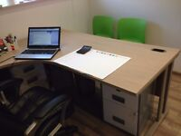 Office desk L-shaped
