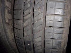 2 pneus d'été, 185/65/15 Goodyear Integrity , 35% d'usure, 7-8/32 de mesure