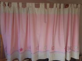 Girls Next pink bedroom curtains
