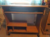 Wooden desk- good condition