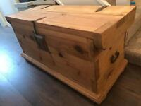 Rustic solid wood pine chest / trunk
