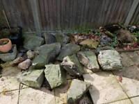 Garden rockery stones