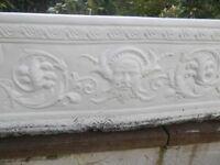 Large Stone Effect Garden Planter 71 cm x 23 cm Decorative All Weathers