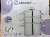 18cm 3 tier Steamer from CLEARVIEW