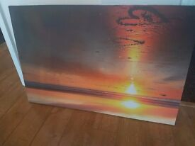 Wall canvas sunset