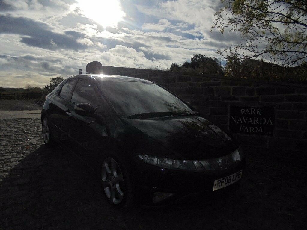 Honda Civic Ex i CDTi Diesel In Black, 2006 06 reg, Service History, Only One Former Owner