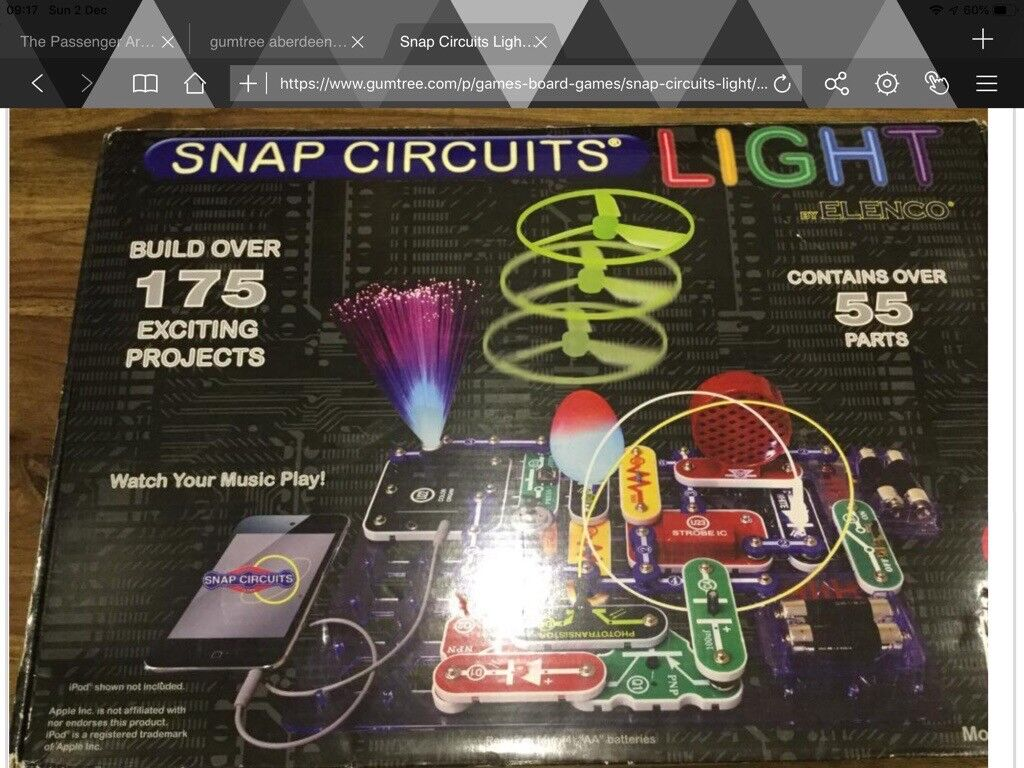 Snap Circuits Lighthave Fun Learning About Electronics For Kids Elenco Electrical Project Kid Educational In Bridge Of Don Aberdeen Gumtree