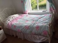 Single bed, decorative iron frame, suitable for child/teenager. Very good condition bed
