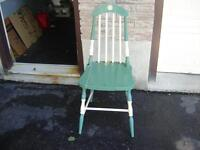 WOODEN CHAIR/GARDEN ITEMS