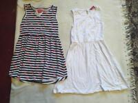 2 girl dresses age 6/7 used £2